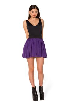 Chiffon Plum Mini Skirt - LIMITED (WW $60AUD / US $55USD) by Black Milk Clothing