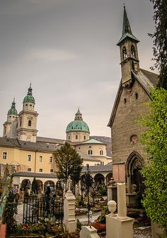 Margarethenkapelle and Salzburg Cathedral, Austria