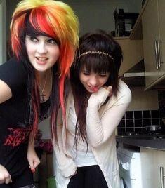 Emo Hair Color, Scene Hair Colors, Black Scene Hair, Emo Scene Hair, Emo Bangs, Epic Hair, Awesome Hair, Indie Scene, Scene Kids