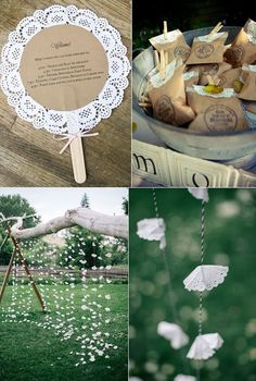 Ideas DIY para hacer con blondas - New Sites Wedding Favors, Diy Wedding, Rustic Wedding, Wedding Decorations, Wedding Tables, Decor Wedding, Diy Y Manualidades, Diy And Crafts, Paper Crafts