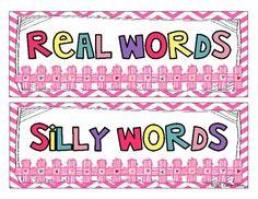 Real/Nonsense Word Sort Freebie!!