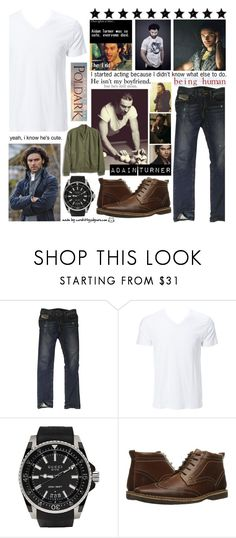 """""""I started acting because I didn't know what else to do."""" by curekitty ❤ liked on Polyvore featuring Episode, Diesel, Simplex Apparel, Gucci, Steve Madden, Gap, men's fashion and menswear"""