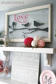 Garage Sales R Us, cricut silhouette framed art idea