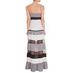 BO.BÔ - Vestido longo Bo.Bô recortes Daphne - OQVestir