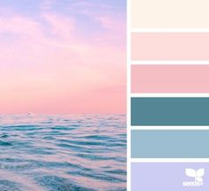 horizon hues color palette from Design Seeds Colour Pallette, Colour Schemes, Color Patterns, Color Combos, Ocean Color Palette, Spring Color Palette, Design Seeds, Palette Design, Palette Deco