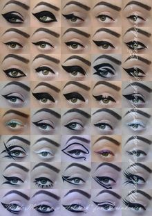 His Majesty - Eyeliner // I wrote article about eyeliner and I created and recreated 39 different eyeliner looks. :) Enjoy! http://www.sminkerica.com/tutoriali/makeup-legend-eyeliner/