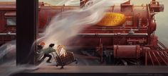 Harry and Ron - Hogwarts Express by marmott art Harry Potter Artwork, Harry James Potter, Harry Potter Universal, Harry Potter World, Hogwarts Train, Train Illustration, Harry Potter Illustrations, Welcome To Hogwarts, Fantastic Beasts And Where
