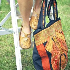 Jelly Indian shoes  &  Boho Thailand Bag