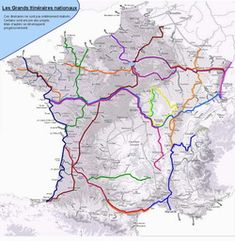 List of Major Bike routes in France- AF3V (including Greenway of the Two Seas)