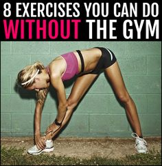 No time for the gym? Then try these 8 intense exercises you can do at home to keep developing a sexy body and shred away body fat. Consistency=Results! Re-pin now, check later.