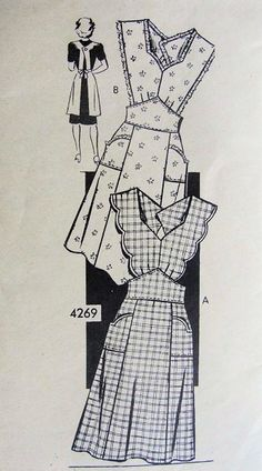 bib apron...love vintage aprons