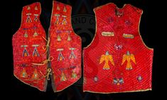 """Quilled Vest,"" ca. Native American Beadwork, Native American Indians, Indian Arts And Crafts, Plains Indians, Quilling Techniques, Indian Artist, Modern Dance, Vests, North America"