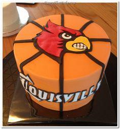 louisville cardinals  | Louisville Cardinals Basketball Cake