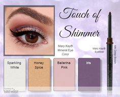 Get #beautiful #eyes with a touch of shimmer from Mary Kay! Shop: http://www.marykay.com/crystalchapa