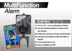 Protect Your Home With Security Multifunction Alarm Only Rp 135.000,-
