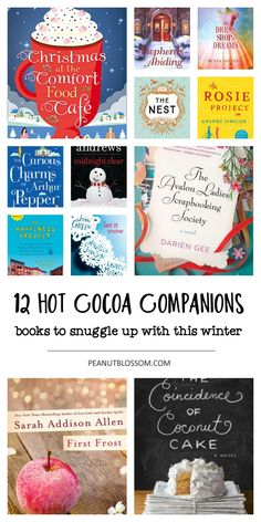 12 sweet books for your Christmas book club pick. These lighthearted and fun reads are perfect for snuggling up with a hot cup of cocoa and a crackling fire. Make some time for yourself this busy holiday season and enjoy one of these great book picks.