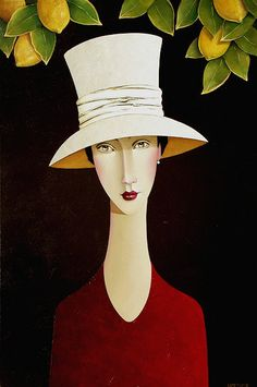 Genevieve and the Lemon Tree by Danny McBride Joe Cocker, Amedeo Modigliani, Danny Mcbride, Cat Icon, Body Figure, Commercial Art, Abstract Painters, Create And Craft, Face Art