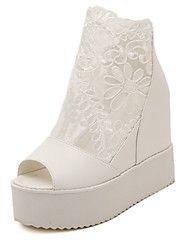 Women's+Platform+Wedge+Mesh+Open+Toe+Lace+Up+Creeper+Sandals+–+SEK+Kr.+6,206