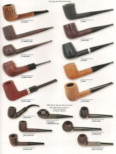 Alfred Dunhill pipes.