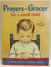 1959 Rand McNally Giant Book: Prayers and Graces for A Small Child  hardcover