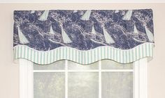 Chart-a-Course Glory Valance | RLF Home in Navy