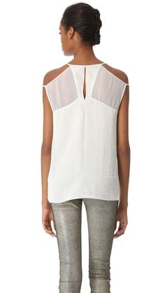 Helmut Lang Chroma Drape Cutout Top $275