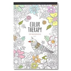Color Therapy Adult Coloring Book for Relaxation 52 Sheets Lined Note Letter Art