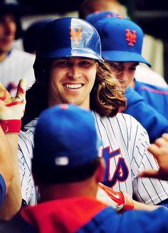 Jacob deGrom. Im loving his smile, his teeth, his HAIR   OMGosh