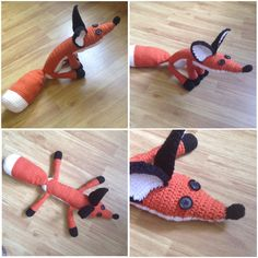 Crochet Plushie Fox from The Little Prince by WoollyRhinoCrafts