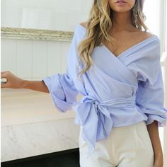 2017 Women Butterfly Sleeve Blouses For Women's Summer Spring Clothes Off Shoulder Tops Bowknot Shirts Females Sexy Blusas