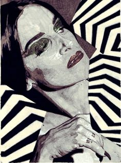 Anna Higgie-여자 일러스트레이터,패션 일러스트,일러스트이미지,옵티컬 패턴 디테일-fashion illust,illustrator :: 네이버 블로그