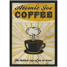 Atomic Joe Coffee now featured on Fab.  Perfect for my kitchen...