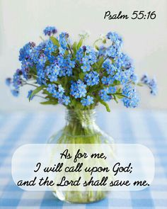 As for me, I will call upon God; and the Lord shall save me. Psalm 55:16