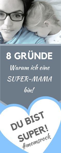 8 Gründe warum ich eine Superheldin und tolle Mutter bin. Und du bist das auch! #momsrock #mamaistdiebeste #mamaleben #superheldin Twins, Children, Funny, Cute, Family Life, Kids Wagon, Parents, Pregnancy, Tips And Tricks