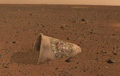 First images from the Mars Curiosity rover. Wow, they really ARE everywhere.