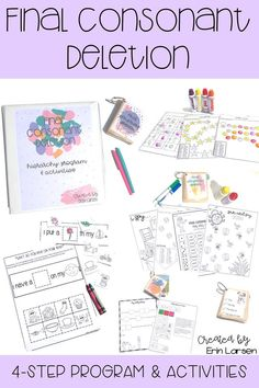 Final Consonant Deletion Activities With Program Preschool Speech Therapy, Articulation Therapy, Articulation Activities, Speech Language Therapy, Speech And Language, Interactive Activities, Speech Pathology, Free Preschool, Preschool Activities