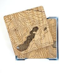 Snowdonia and the Welsh 3000s Contoured Coasters - Laser cut and etched wooden…