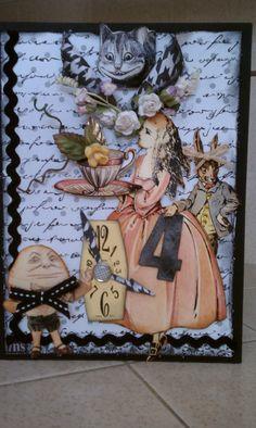 "Card - ""Time 4 Tea"" - Alice in Wonderland"