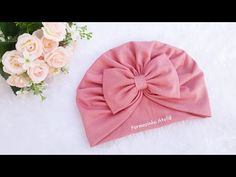 Hand embroidery ribbon work,Easy trick to make ribbon flower Diy Baby Headbands, Turban Headbands, Diy Hair Bows, Diy Bow, Baby Bows, Baby Girl Dress Patterns, Ribbon Work, Fashion Sewing, Baby Sewing
