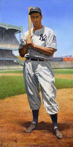 Joe DiMaggio, NY Yankees by Bruce Stark.