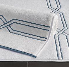 Grey natural 30x50 diamond flat weave bath rug c ml pinterest bath rugs bath and for Restoration hardware bathroom rugs