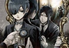 Black butler, a vicious beast dressing up and playing butler Black Butler Meme, Black Butler Sebastian, Black Butler Ciel, Black Butler Kuroshitsuji, Ciel Phantomhive, Ciel E, Fanart, Sebaciel, Butler Anime
