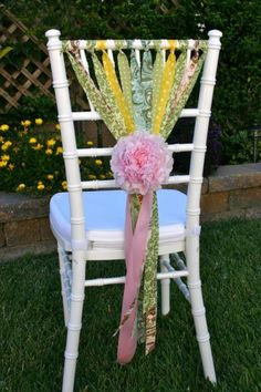 Shabby Chic party chair! DIY