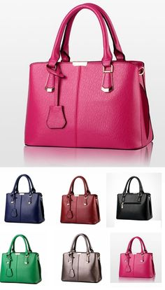 Women's Fashion Tote Bags Casual PU Leather Shoulder Bags,6 colors for us !