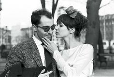 The Best Wedding Hair of All Time: From Gisele Bündchen's Tousled Waves to Audrey Hepburn's Flower Crown – Vogue - Anna Karina and Jean-Luc Godard Anna Karina, Celebrity Wedding Hair, Celebrity Weddings, Sofia Vergara, Charlotte Rampling, Audrey Hepburn, Agnes Varda, Waves Icon, French New Wave