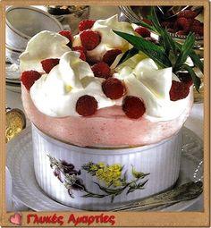 Παγωμένο σουφλέ σμέουρων | Γλυκές αμαρτίες