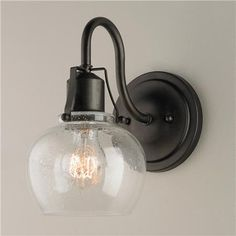Rustic Iron Industrial Revolution Wall Sconce