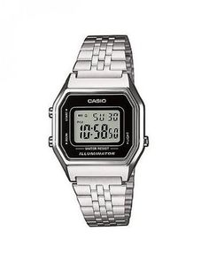 Casio Damen-Armbanduhr Casio Collection Digital Quarz Edelstahl LA680WEA-1EF