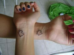 matching tattoos for best friends | Matching Friendship Tattoos – Designs and Ideas