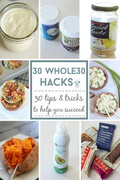 These 30 'hacks' are awesome for saving time, money, and your sanity during the whole30 program! Some really great tips here to help you succeed!